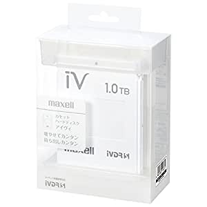 マクセル iVDR-S規格対応リムーバブル・ハードディスク 1.0TB(ホワイト)maxell カセットハードディスク「iV(アイヴィ)」 M-VDRS1T.E.WH