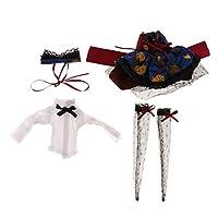 【ノーブランド品】1/6 布製 BJD SD BBガールズDOD LUTS人形用 可愛い トップスカート ストッキングヘアバンド セット プレゼント