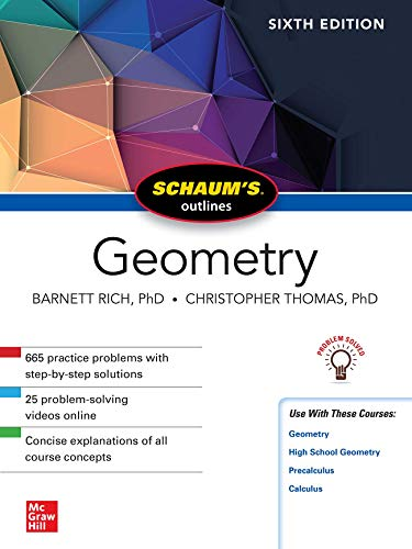 Download Schaum's Outline of Geometry, Sixth Edition (Schaum's Outlines) 1260010570