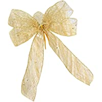 C-Princess クリスマスツリー 飾り アレンジ素材 リボン 蝶結び かわいい クリスマス オーナメント インテリア DIY デコ素材 パーティー ゴールド