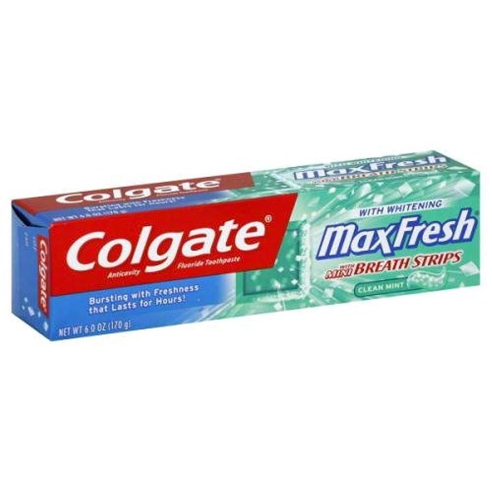 予見するポップ最適Colgate マックスFrsh TPSTクリーンミント6オズ