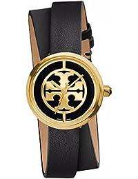 (トリーバーチ)Tory Burch REVA DOUBLE-WRAP WATCH, BLACK LEATHER/GOLD-TONE, 28 MM TRB4019 レディース 時計 (並行輸入品) ddilddil