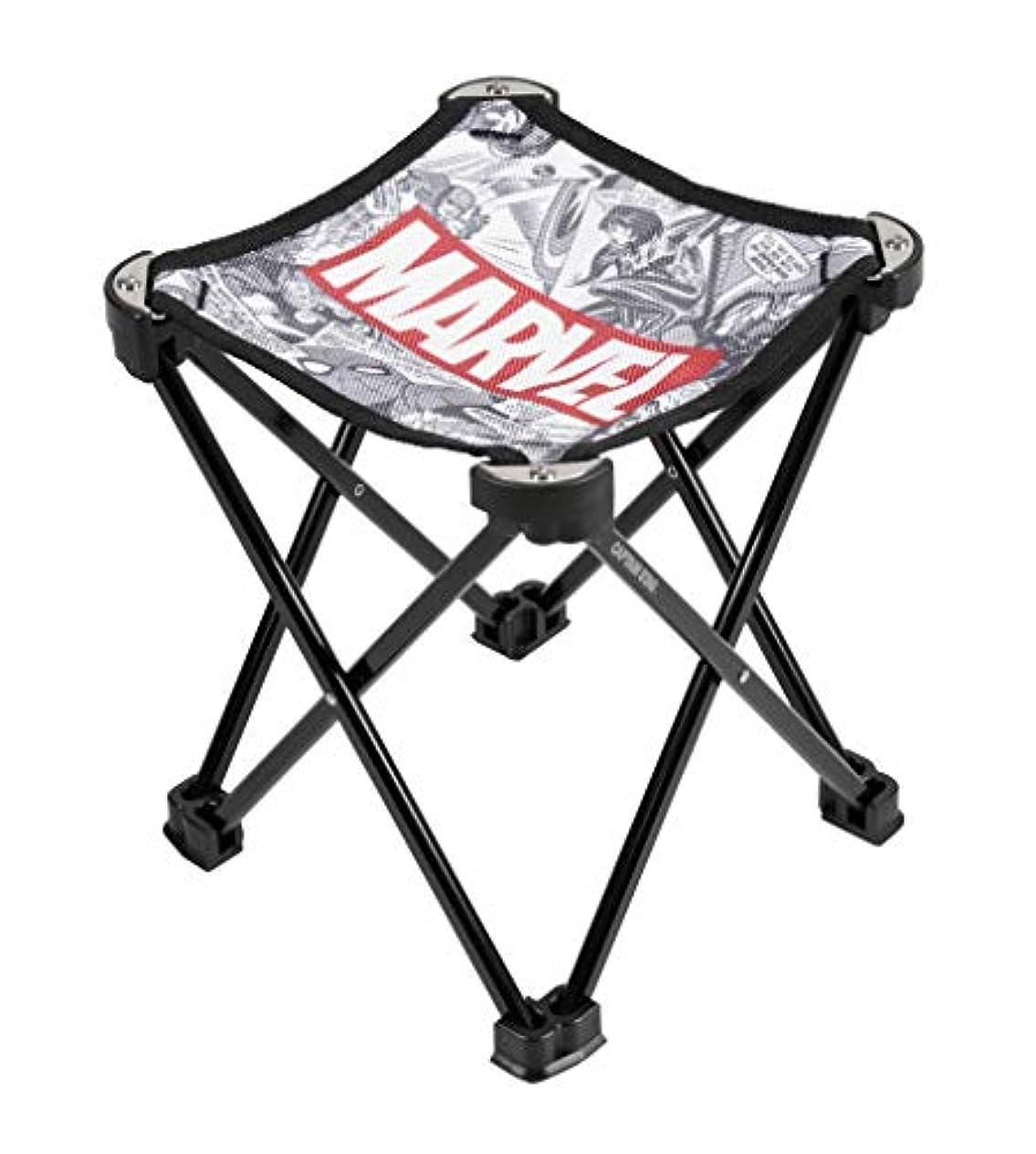 敬の念生理大惨事キャプテンスタッグ(CAPTAIN STAG) マーベル アウトドアチェア 椅子 マイクロイージーチェア コミック/ホワイト MA-1078