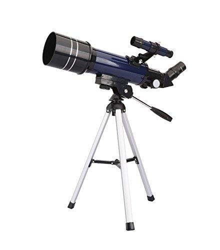 GEERTOP ウルトラクリア 高品質 天文 屈折 望遠鏡 卓上三脚 ファインダースコープ付き 400X70mm 初心者の天体観測とティーン用