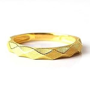 PRIMAGOLD(プリマゴールド) ダイヤモンドカット純金 リング レディース K24 ring ダイヤカット太身 指輪 純金 8号