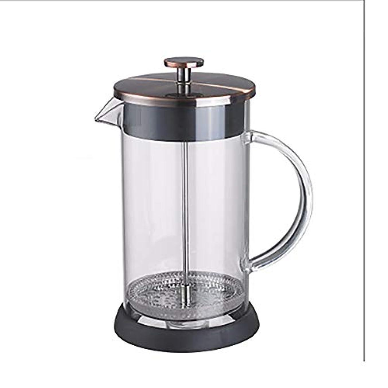 原稿論争的一節フレンチプレスコーヒーメーカー、断熱熱ホウケイ酸ガラス、根拠のない3段ろ過システム、20オンス、600ミリリットル,Brass