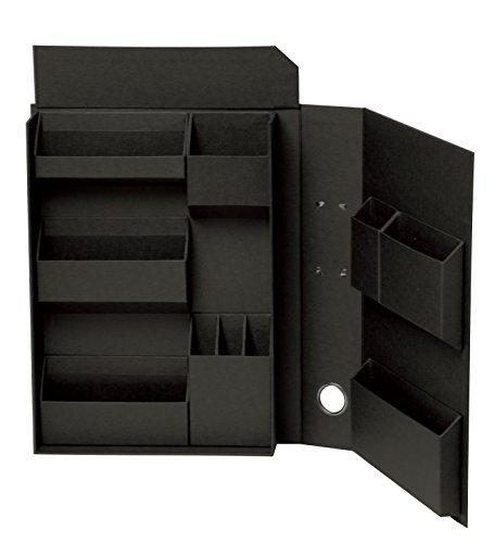 ナカバヤシ ライフスタイルツール 小物入れ 収納ボックス ファイルA4 ブラック LST-FA4BK