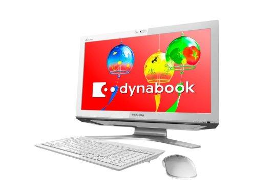 【地デジ】TOSHIBA dynabook Qosmio D711/T7CW 地上/BS/110度CSデジタルチューナー搭載 W録対応デスクトップPC Windows7HomePremium搭載 21.5型ワイド リュクスホワイト PD711T7CBFW