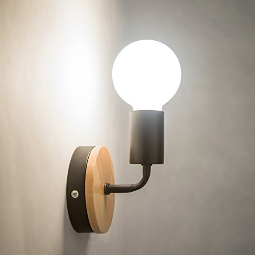 OYGROUP E27 黒 壁取付ランプ 北欧式ブラケットライト