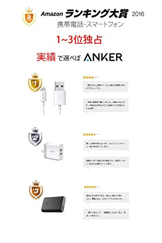 Anker PowerDrive 2 (24W/4.8A 2ポート USBカーチャージャー) iPhone&Android対応 (ブラック)  A2310012