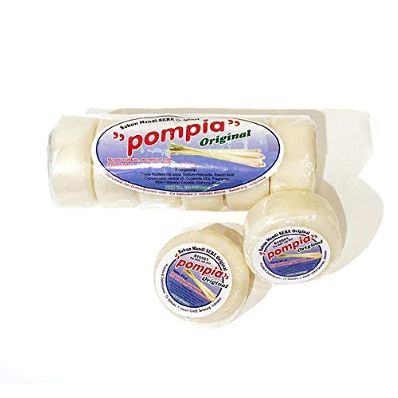 野ウサギ所持期限POMPIA(ポンピア) オリジナル 80g x 6個(泡立てネット付き)/ ボディソープ/デリケートゾーンケア/石けん
