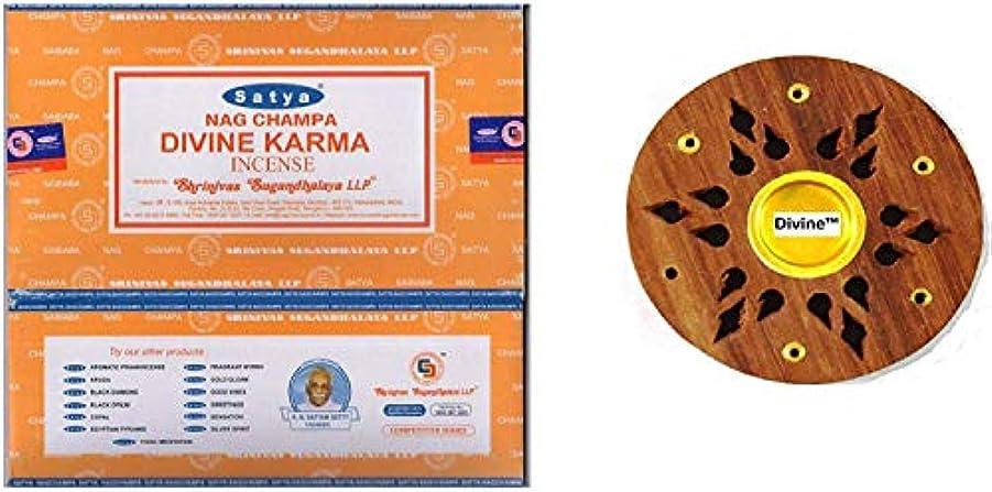 豊富なルビーソースSatya Nag Champa Divine Karma Incense Sticks -12Packs x 15g (180g)
