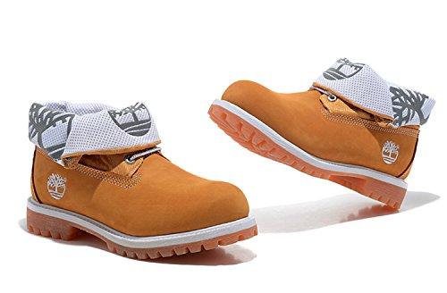 ティンバーランド Timberland ブーツ メンズ 男性用 アイコン 6インチ 折り返してロール  2WAY ROLL TOP ロールトップ レザー ブーツ  6inch Boot 防水 両用シューズ ベーシック イエロー (US7.5-25.5cm) [並行輸入品]