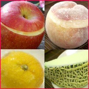 姿そのままジャパニーズフルーツ・シャーベット4種セット(メロン・ゆず・りんご・桃)