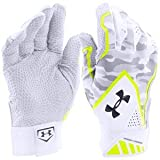 UNDER ARMOUR Yard Undeniable Baseball Batting Gloves 2016 (アンダーアーマー ヤード アンディナイアブル バッティング グローブ) (White/Grey/Yellow, M(24cm-25cm)) [並行輸入品]