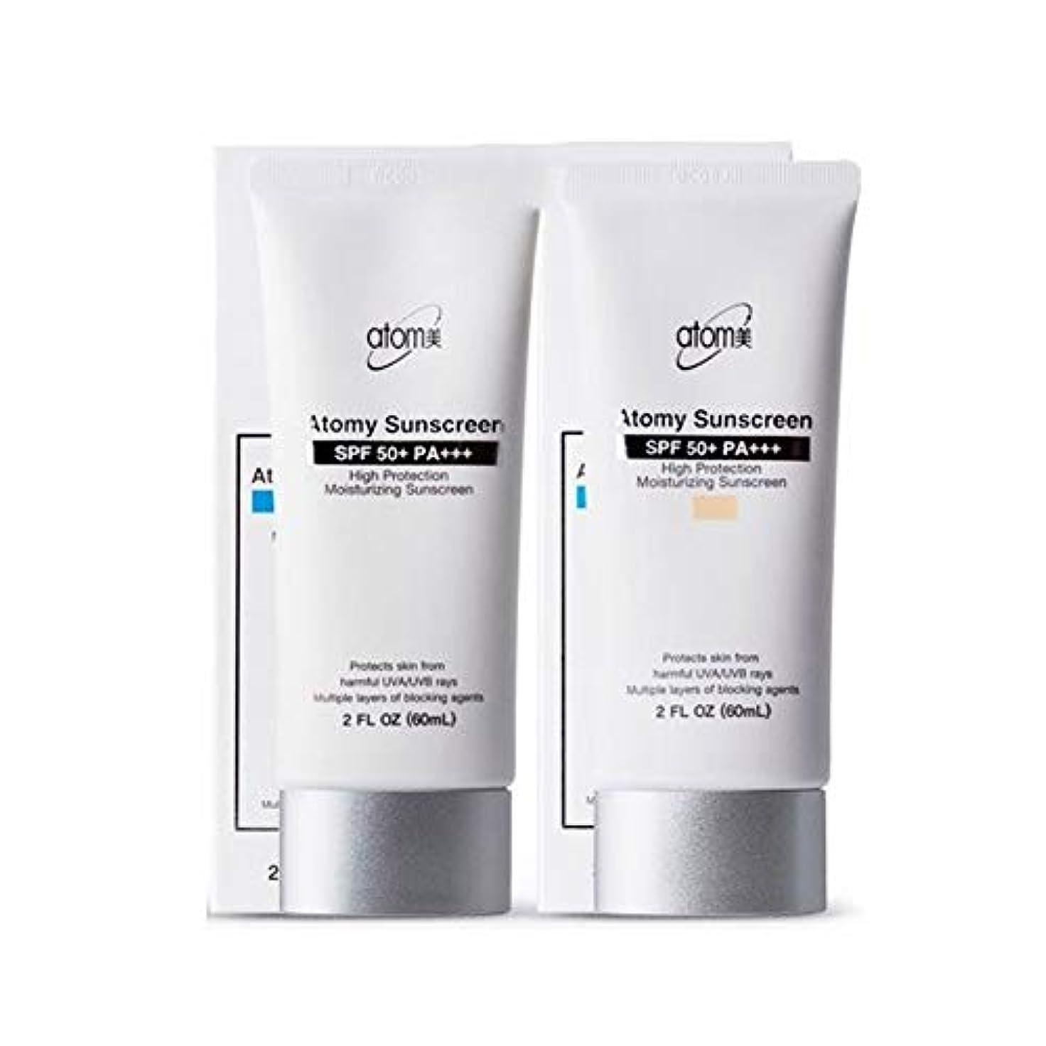 アトミ(Atomy) サンクリームベージュ+ホワイト(SPF50+/PA+++)60ml、ハイプロテクション、Atomy Sun Cream Beige+White(SPF50+/PA+++)60ml、High Protection...