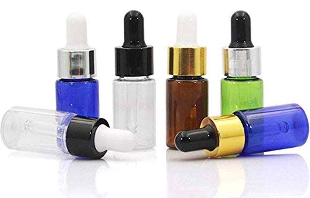 セットアップシンプルさ気付くVNDEFUL10 PCS Refillable Essential Oil Dropper Bottles Containers with Glass Eye Dropper Cosmetics Makeup Small...