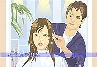 【美容室向けポストカードAIR】「ありがとうございました」女性イラストはがき絵葉書」美容院・美容室・理容店向けはがき 絵葉書