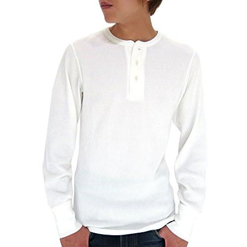 (アヴィレックス) AVIREX Tシャツ メンズ ブランド 長袖 ヘンリーネック 無地 サーマル ワッフル 4color M オフホワイト