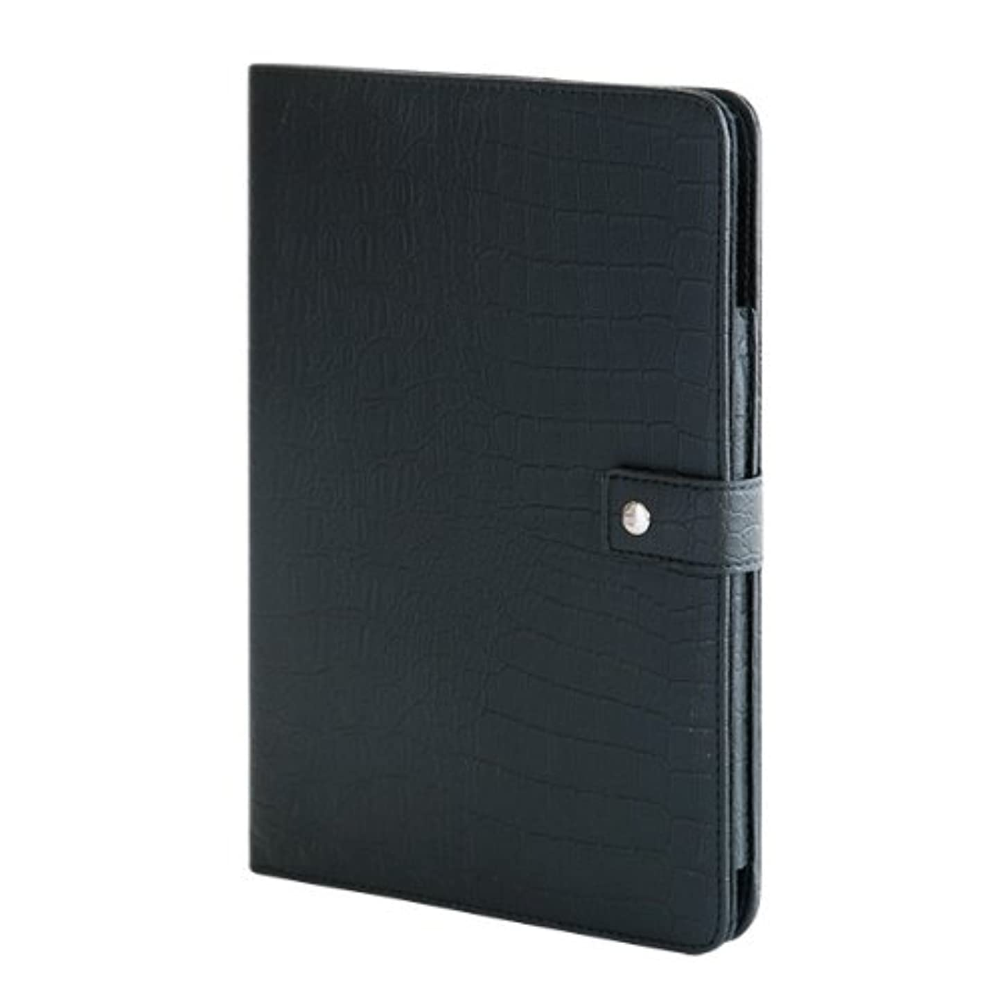舌な主要なセグメントBluevision Croco Folio Case for iPad Air Black