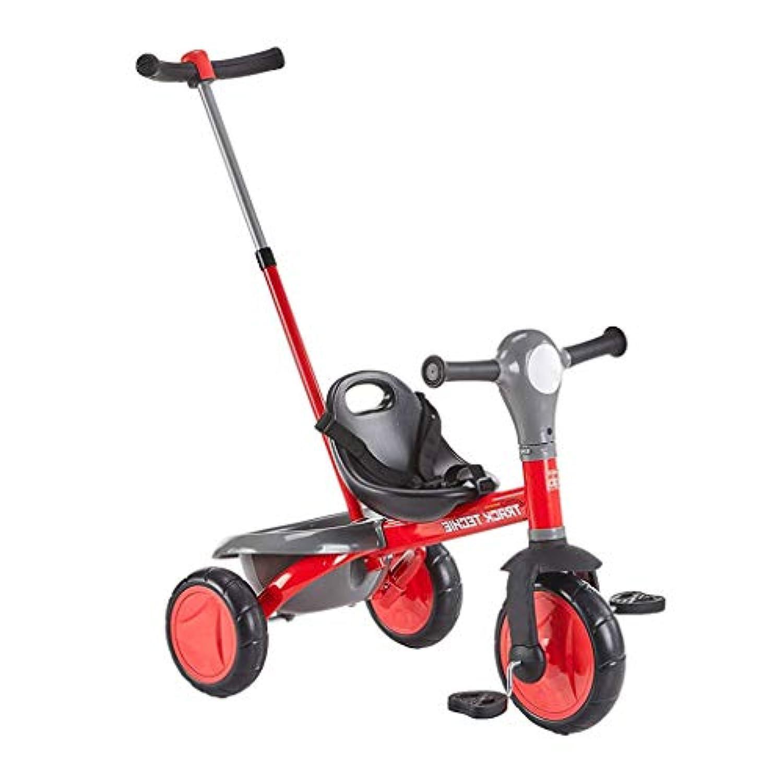 三輪車は、三輪車を押すことができます赤/青 ( Color : 2 )