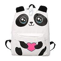 パンダ バッグ 3Dパンダ キャンバス 萌え バックパック 女の子 女性 旅行 リュック サックショルダー スクールバッグ