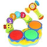 子供のための音楽の電気ベビー玩具ハンドドラムタッピングインストゥルメントパーカッション、ブルー@ミュージックハンマー@再生