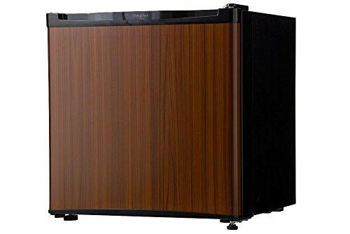 冷蔵庫 simplus シンプラス 46L 1ドア冷蔵庫 SP-146L-WD コンパクト 小型 ミニ冷蔵庫 木目調 一人暮らし ダークウッド