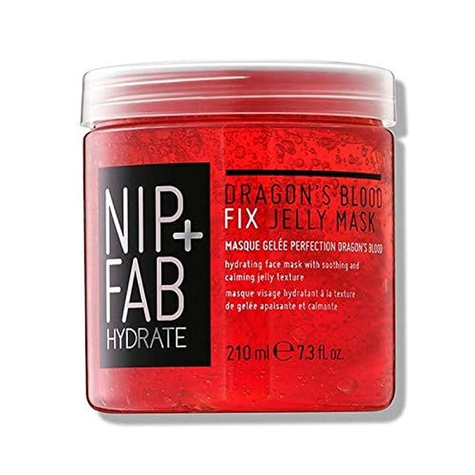 子豚キラウエア山ピック[Nip & Fab] + Fabドラゴンの血修正ゼリーマスク210ミリリットルニップ - NIP+FAB Dragons Blood Fix Jelly mask 210ml [並行輸入品]