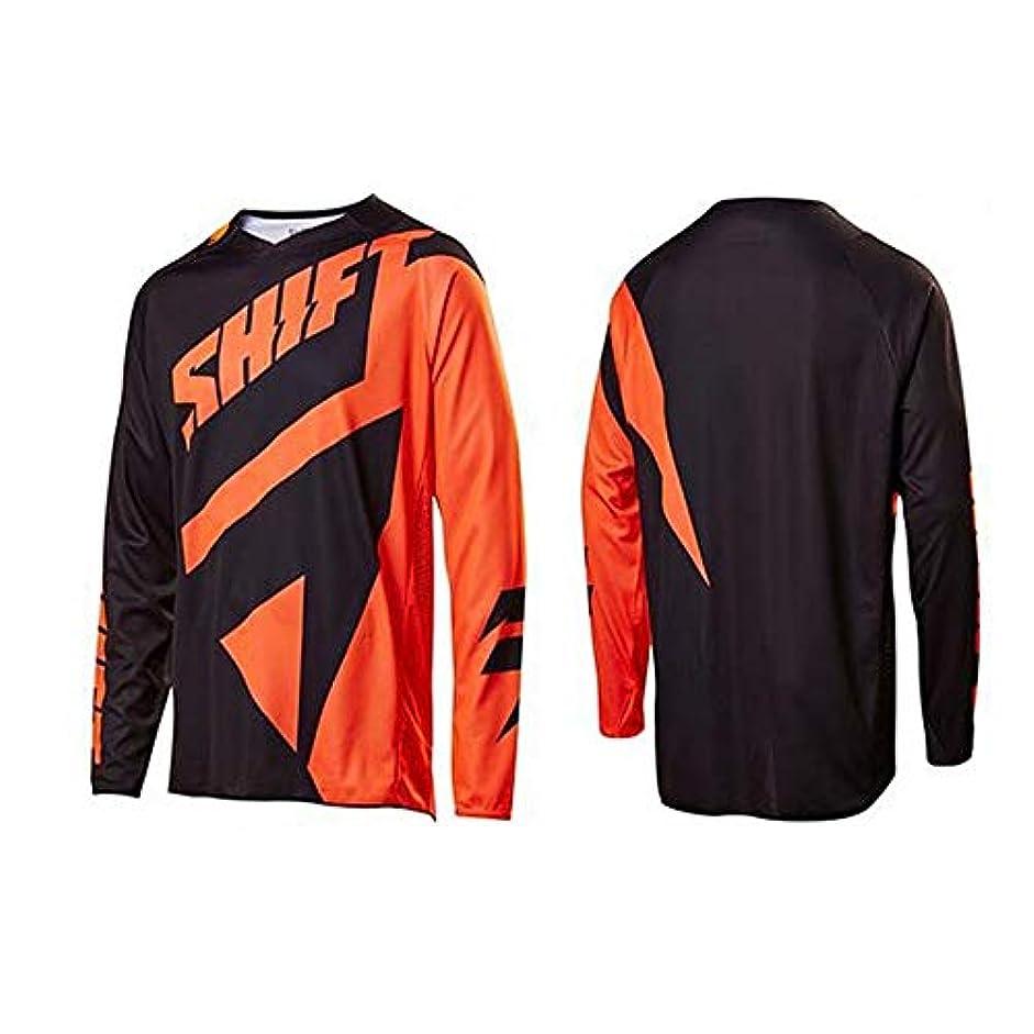 津波コンセンサス貫通するCXUNKK オートバイのオフロード服に乗って夏のアウトドアライディングスピードの服長袖シャツメンズマウンテンバイク (Color : 14, Size : XXXL)