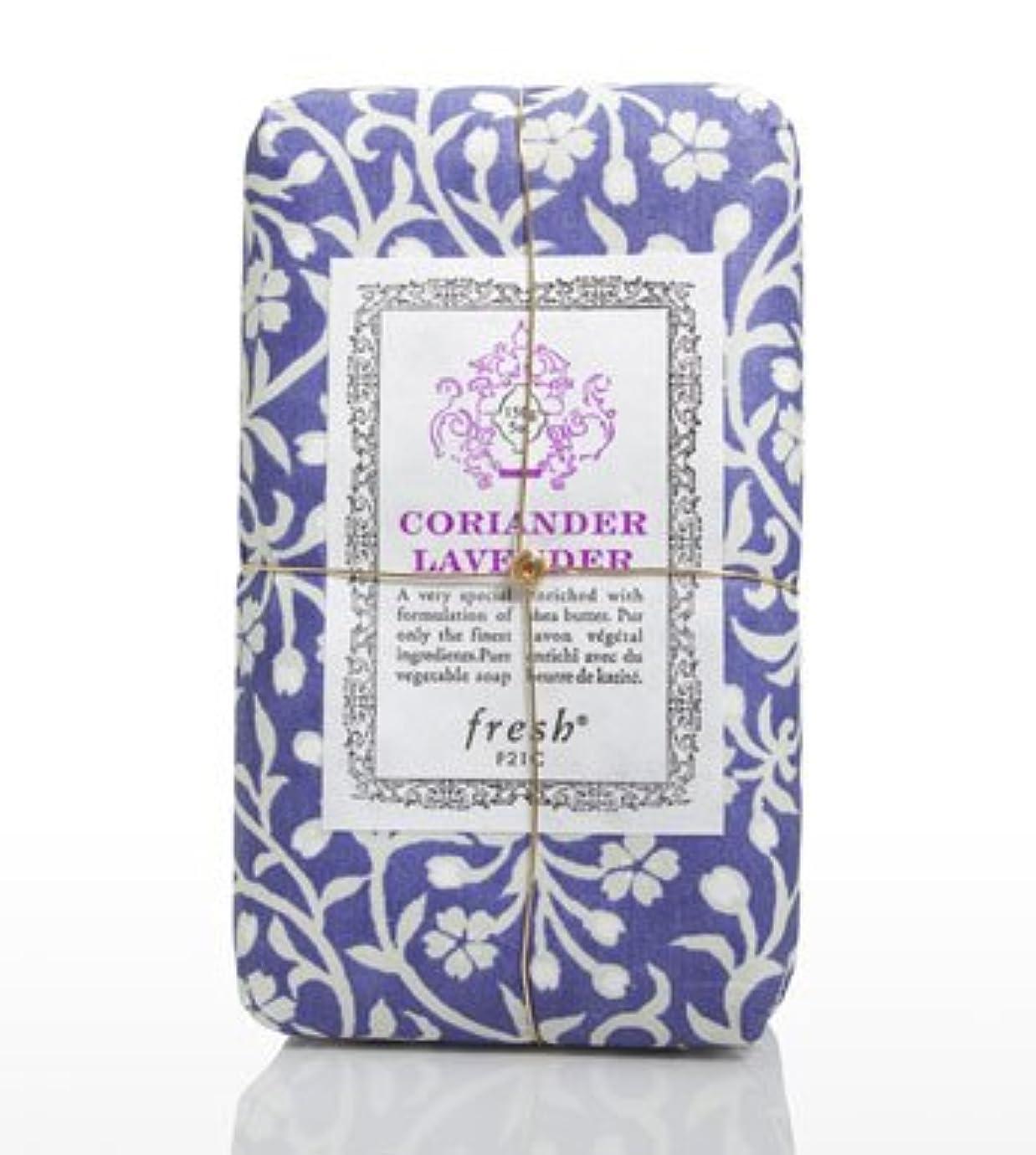 突っ込む回転するヒギンズFresh CORIANDER LAVENDAR SOAP(フレッシュ コリアンダーラベンダー ソープ) 5.0 oz (150gl) 石鹸 by Fresh