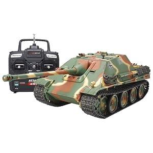 タミヤ 1/16 ラジオコントロールタンクシリーズ No.23 ドイツ駆逐戦車 ヤークトパンサー (後期型) フルオペレーションセット (2.4GHz 4チャンネルプロポ、バッテリー、充電器付き) 56013
