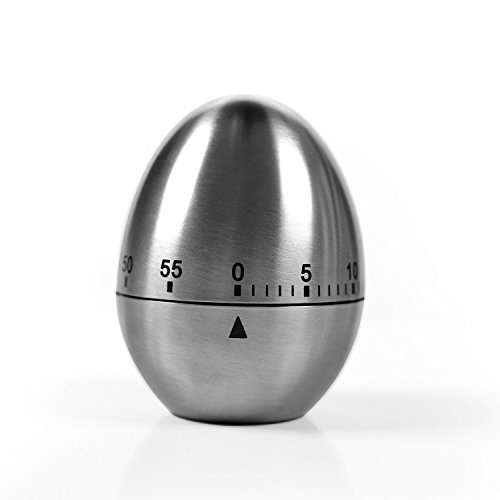 Family Care キッチン 料理用 卵型タイマー ステンレス鋼製 電池...