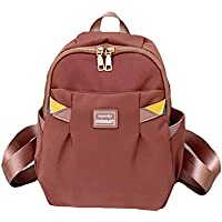 Simple Solid Color Oxford Cloth Schoolbag, Teen Girl Large Capacity Reduce Burden School Bag, Young Student Waterproof Light Breathable Backpack,Pink