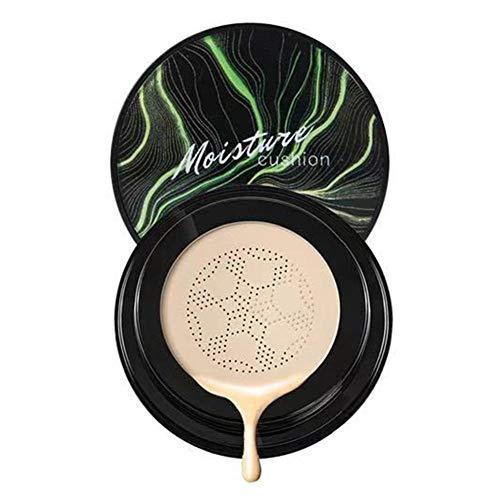 Air Cushion Foundation Moisturizing BB Cream Makeup Base Primer, Even Skin/Whitening/Brightens + Mushroom Sponge for Women, 20ML