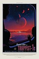 惑星からホップTrappist 1e NASAスペース旅行ポスターby proframes 24x36 inches 181968