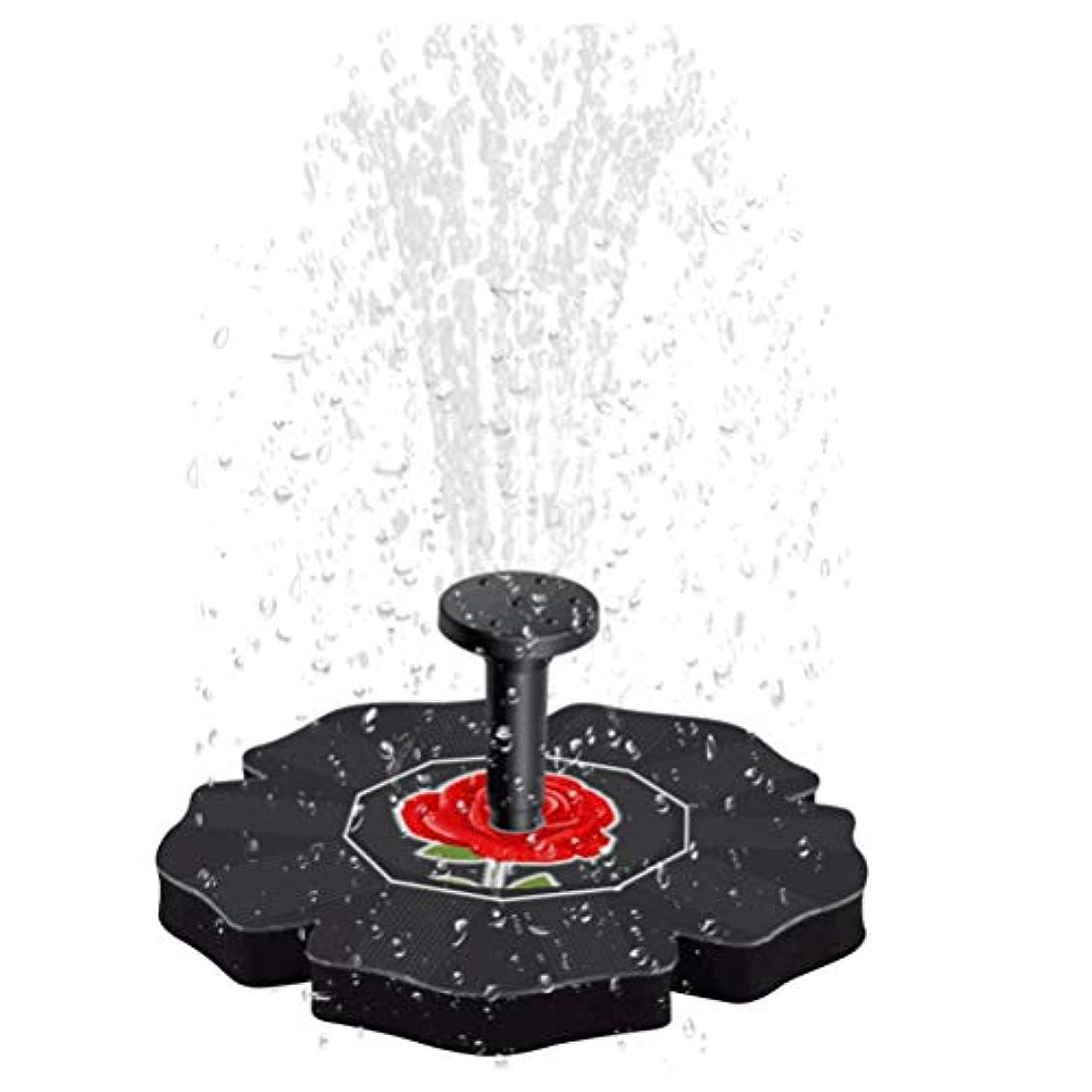 LIOOBO ソーラーパワーウォーターポンプバードバス噴水ブラシレスフローティング漂流パネル用バードバス用水槽水槽水族館ガーデン芝生