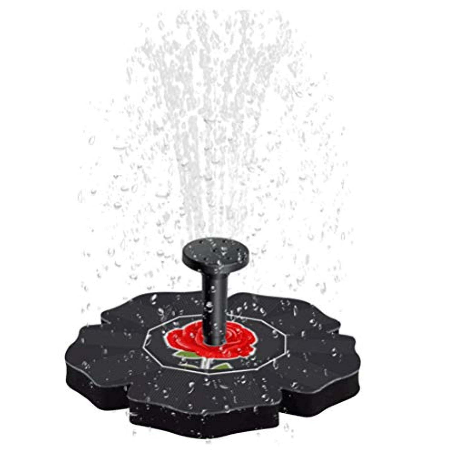 準拠柱常習的LIOOBO ソーラーパワーウォーターポンプバードバス噴水ブラシレスフローティング漂流パネル用バードバス用水槽水槽水族館ガーデン芝生