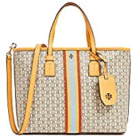 Tory Burch Women's Gemini Link Canvas Tote in Yellow