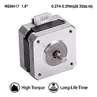 MOONS' NEMA17 ステッピングモータ 3Dプリンター 0.2Nm(28oz-in)0.27A2相 1.8°ステッピングモータ 25.3mm(1in.) スムーズステッピングモータ (ステッピングモータ用リード線00723付き 型番MS17HD5P4027)