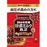 味覚糖 特濃ミルク 8.2 あずきミルク 93g×4袋 [機能性表示食品]