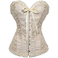 723f46b36 Camellias Women  s Lace Up Boned Sexy Plus Size Overbust Corset Bustier  Bodyshaper Top with