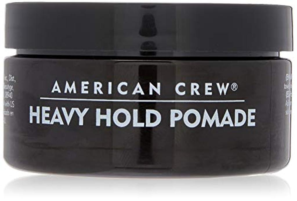 サミュエルセールスマンラインアメリカンクルー Men Heavy Hold Pomade (Heavy Hold with High Shine) 85g/3oz並行輸入品