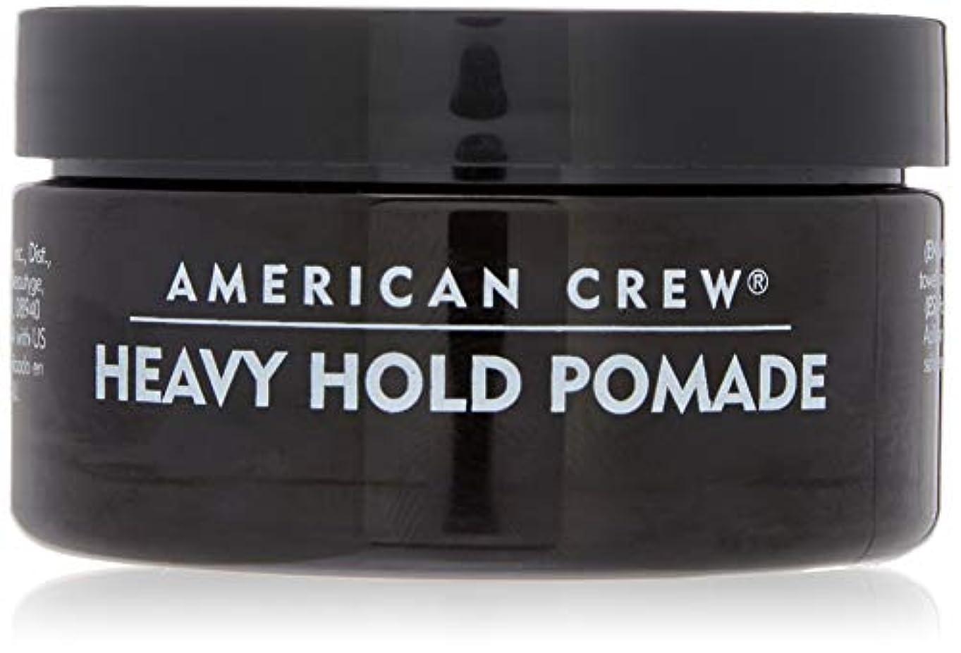 信じられない針わずらわしいアメリカンクルー Men Heavy Hold Pomade (Heavy Hold with High Shine) 85g/3oz並行輸入品