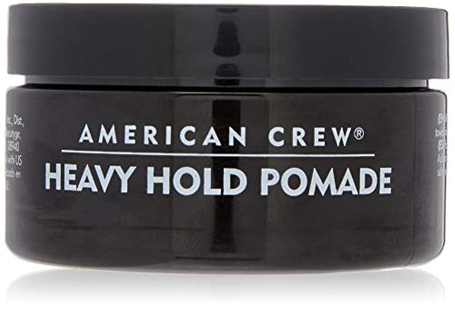 マカダム不愉快合体アメリカンクルー Men Heavy Hold Pomade (Heavy Hold with High Shine) 85g/3oz並行輸入品