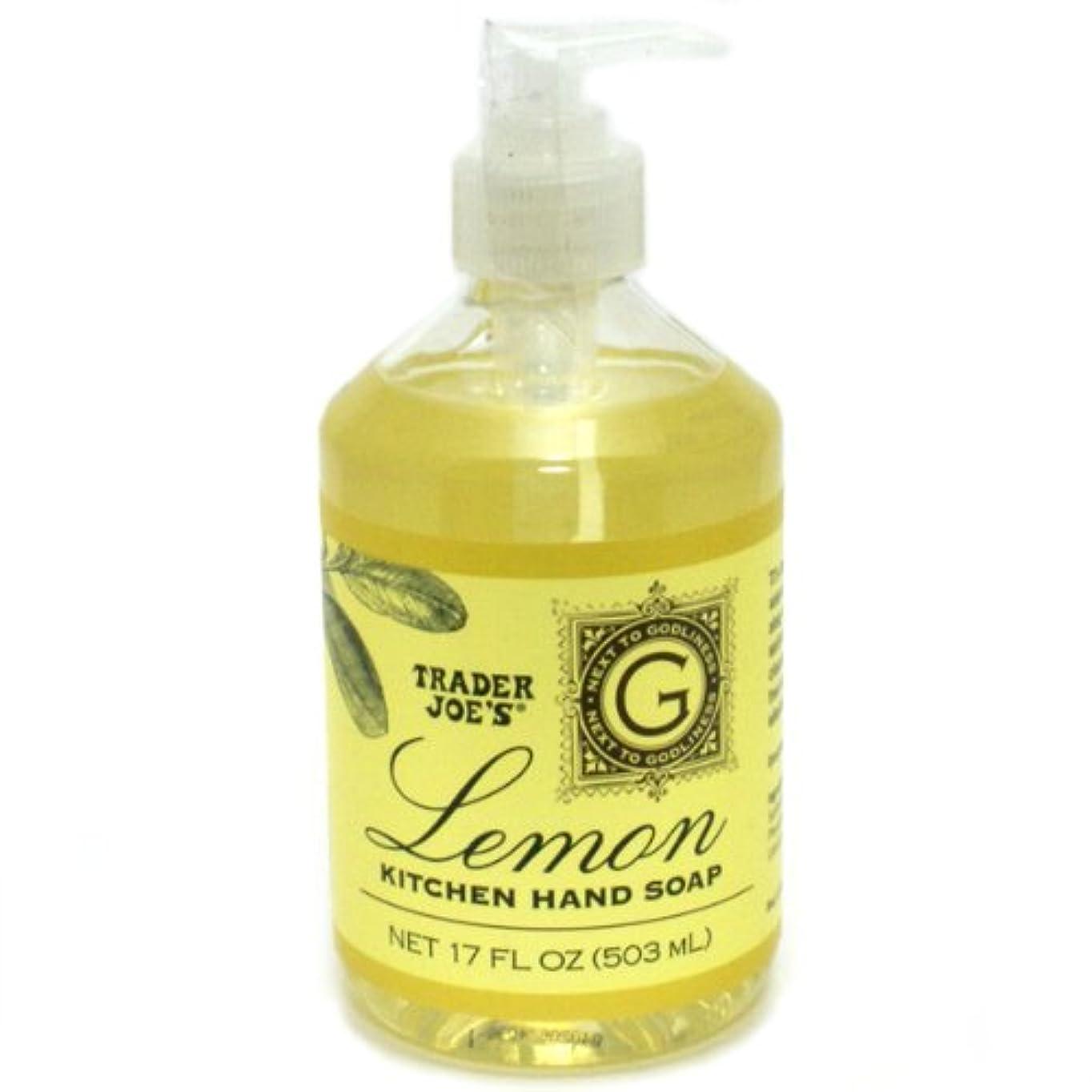 踏みつけジェスチャー店主Trader Joe's トレーダージョーズ KITCHEN HAND SOAP Lemon レモン キッチンハンドソープ [並行輸入品]
