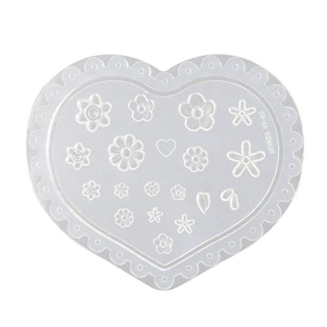 食い違いとにかくサラミLindexs 3Dシリコンモールド ネイル 葉 花 抜き型 3Dネイル用 レジンモールド UVレジン ネイルパーツ ジェル ネイル セット アクセサリー パーツ 作成 (1#)
