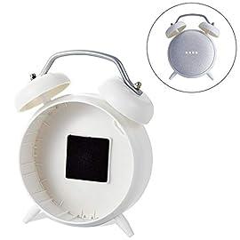 エレコム Google Home Mini 用 ClockStand クロック スタンド ホワイト AIS-GHMCLWH