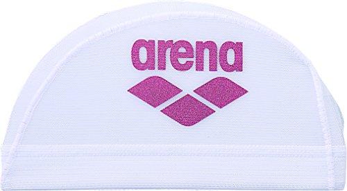 arena(アリーナ) スイムキャップ メッシュ ARN-6414 ホワイト×ピンク M