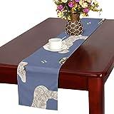 LKCDNG テーブルランナー 和風の歌舞伎 クロス 食卓カバー 麻綿製 欧米 おしゃれ 16 Inch X 72 Inch (40cm X 182cm) キッチン ダイニング ホーム デコレーション モダン リビング 洗える